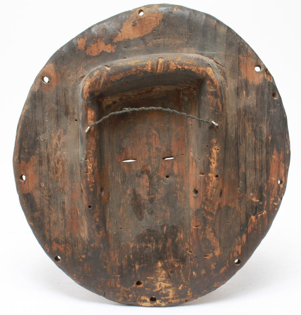 African Congo Bateke Flat Mask Carved Wood - 3
