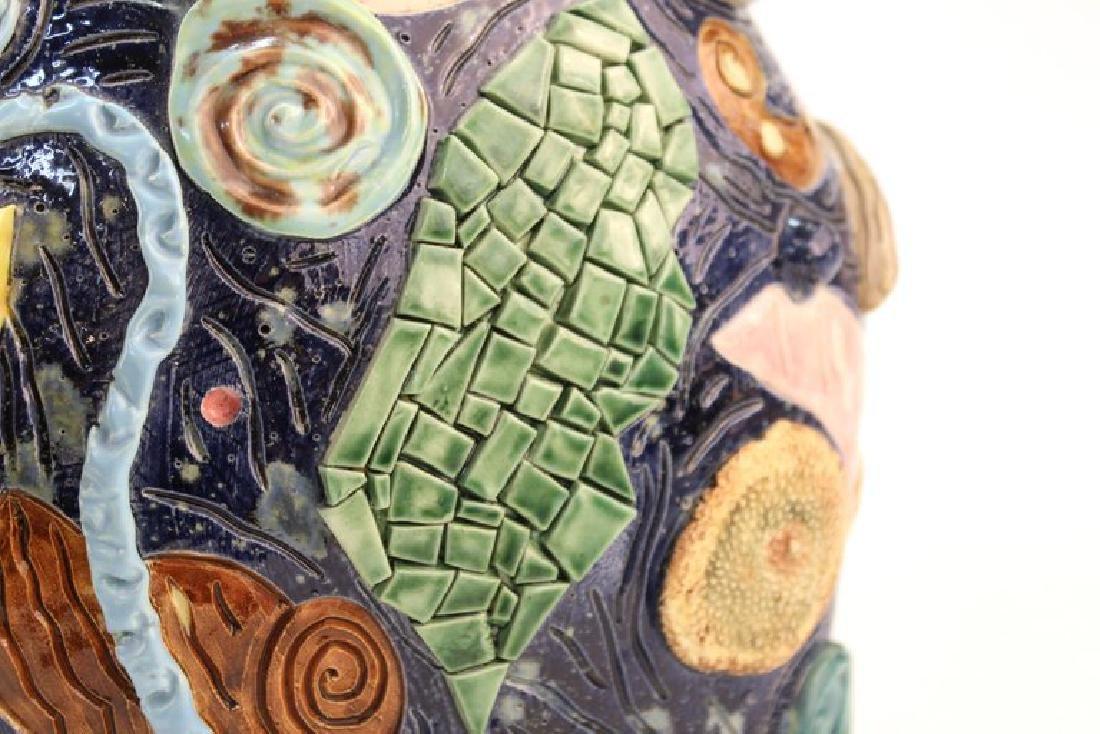 Postmodern Memphis Manner Art Pottery Covered Urn - 10