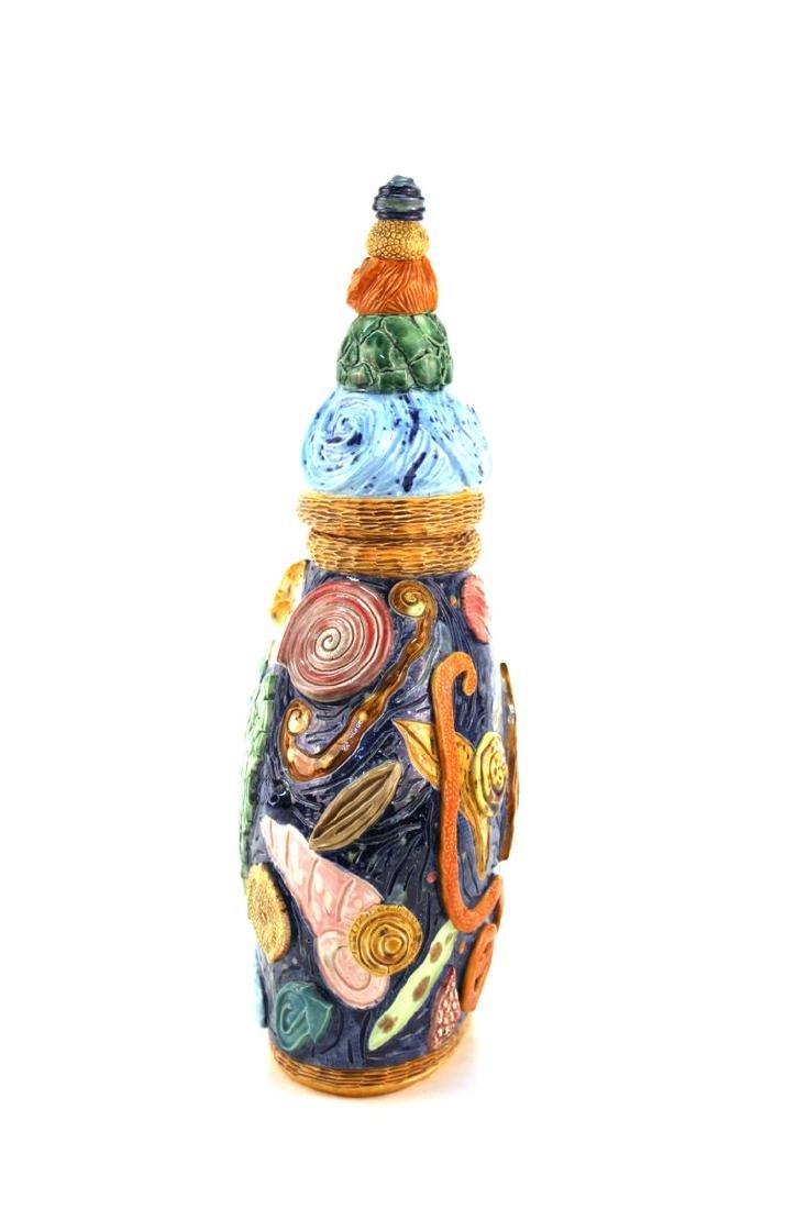 Postmodern Memphis Manner Art Pottery Covered Urn - 3