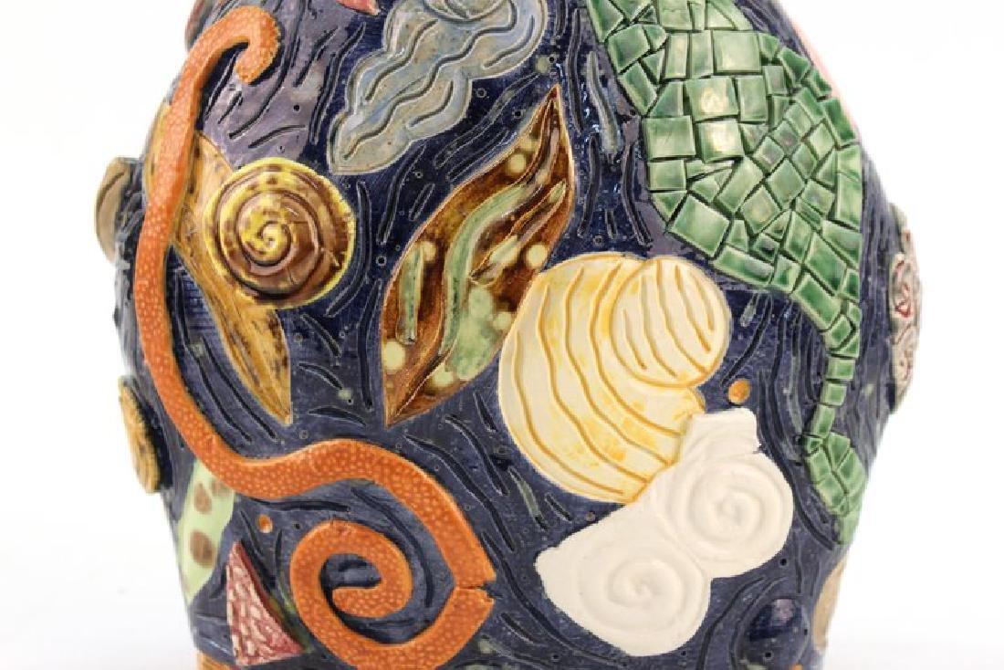 Postmodern Memphis Manner Art Pottery Covered Urn - 5