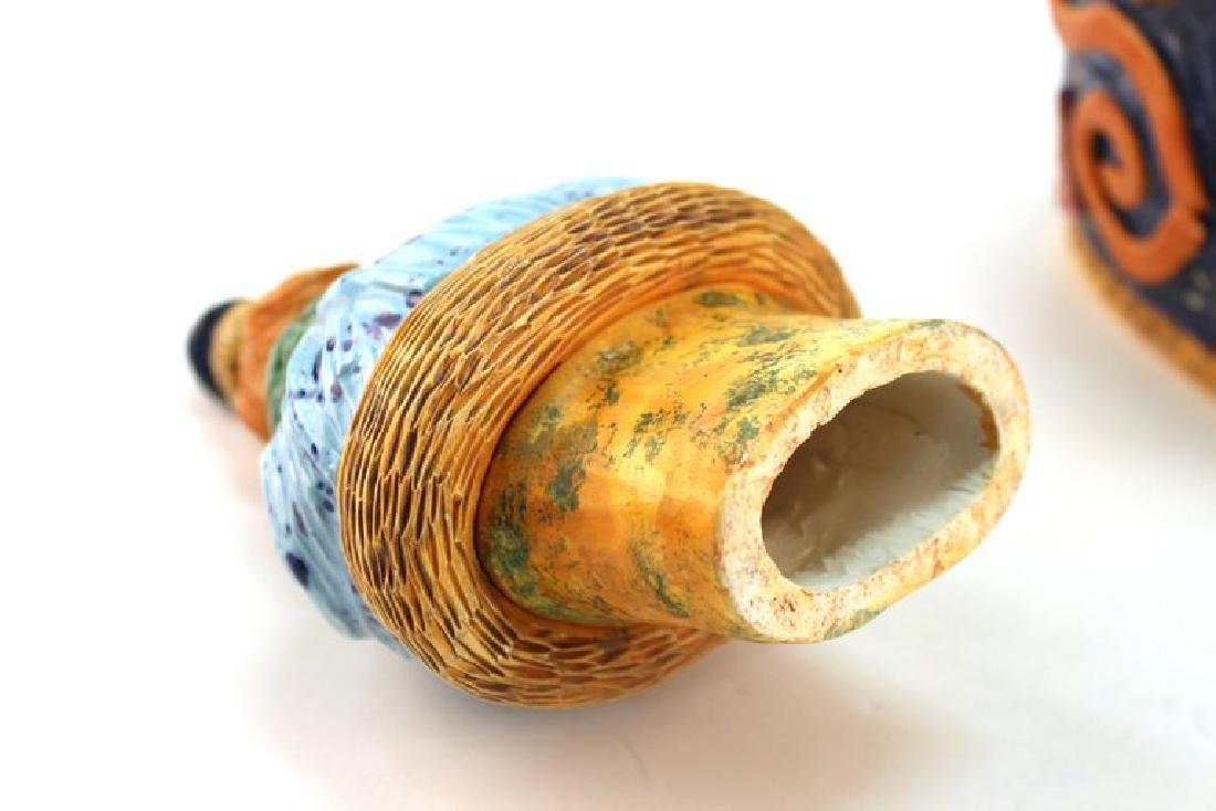 Postmodern Memphis Manner Art Pottery Covered Urn - 7