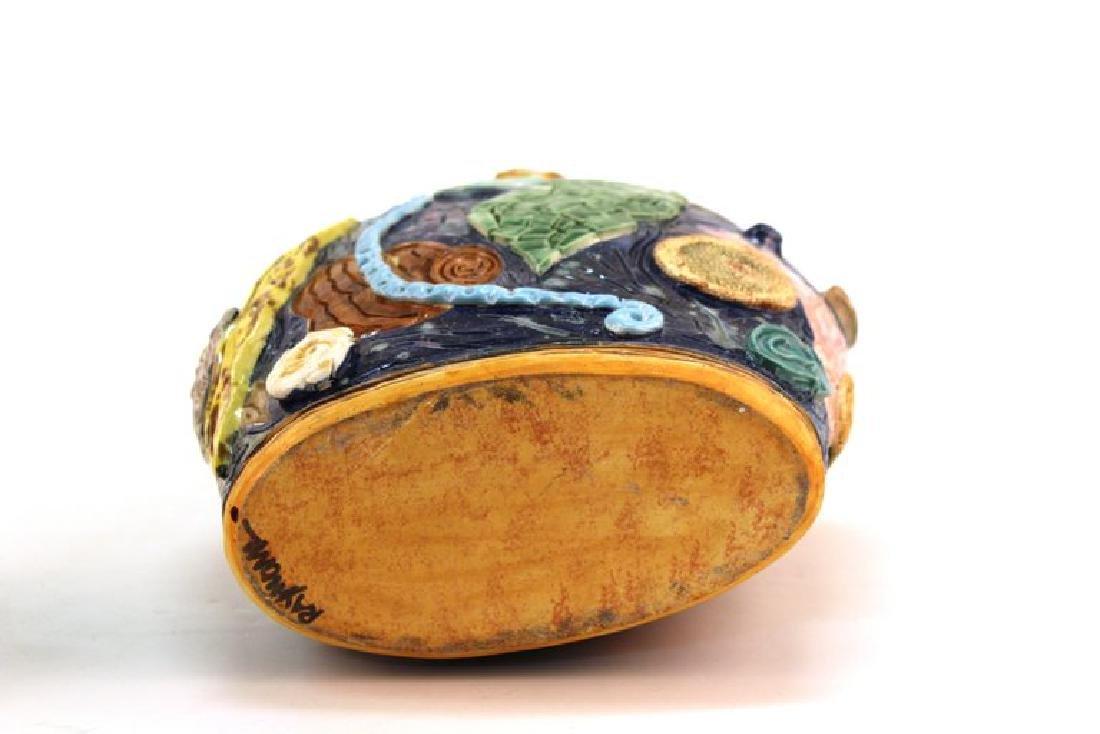 Postmodern Memphis Manner Art Pottery Covered Urn - 8