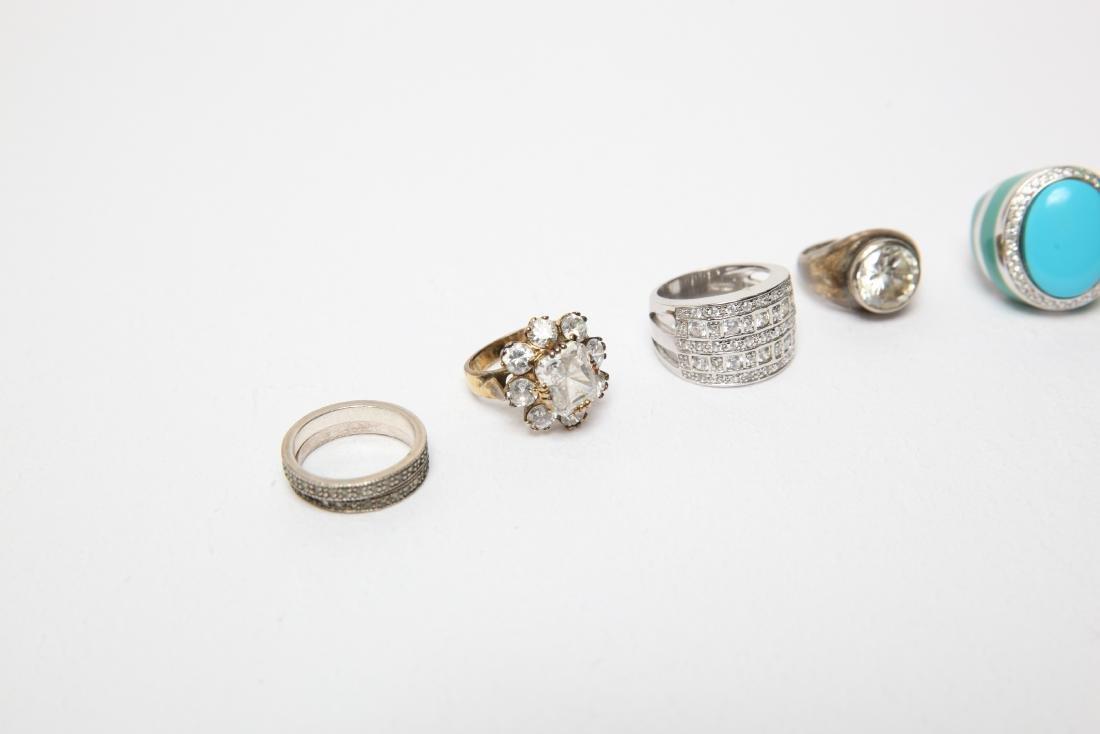 Ladies' Costume Jewelry Sterling Rings Group of 10 - 2