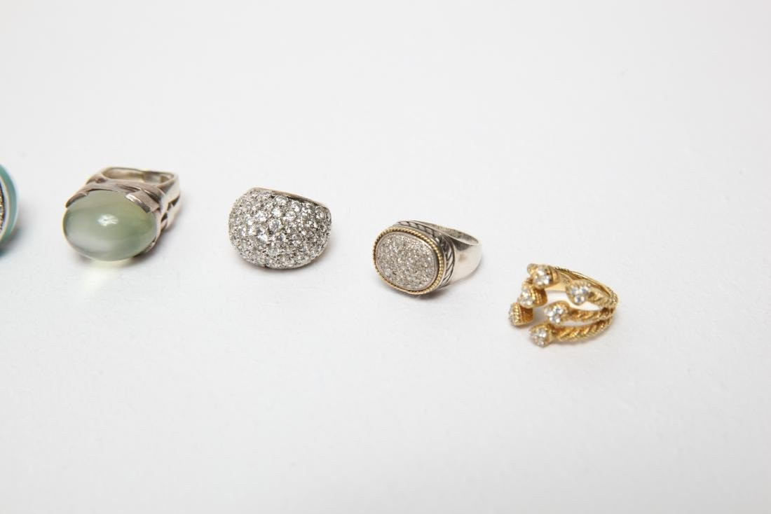 Ladies' Costume Jewelry Sterling Rings Group of 10 - 4