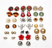 Costume Jewelry Earrings Including Chanel, 19