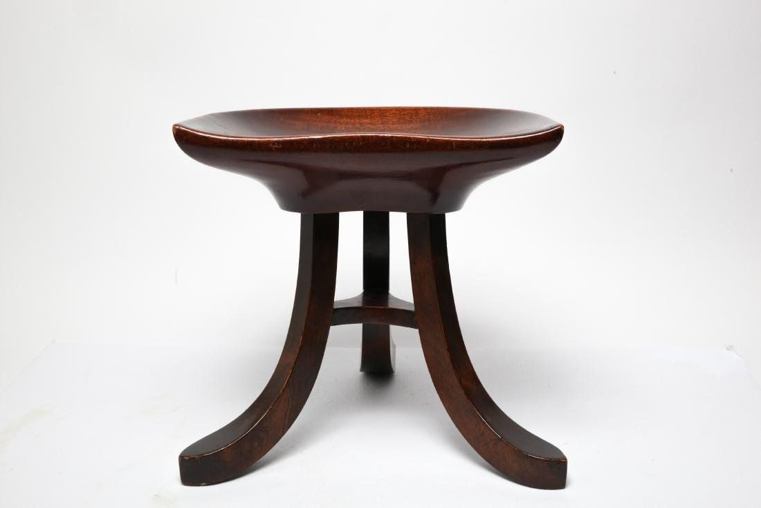 Adolf Loos Manner Mahogany Tripod Stool