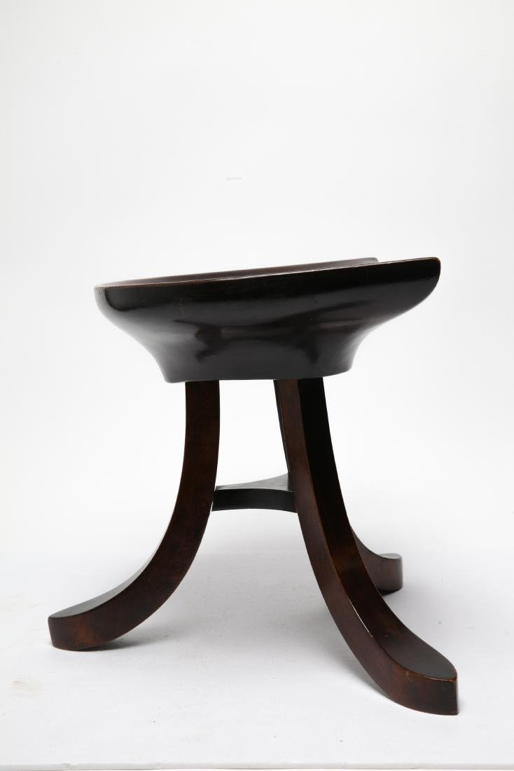 Adolf Loos Manner Mahogany Tripod Stool - 3