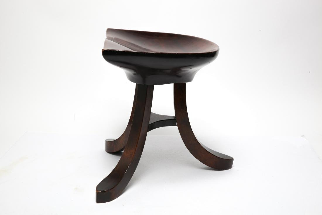 Adolf Loos Manner Mahogany Tripod Stool - 5
