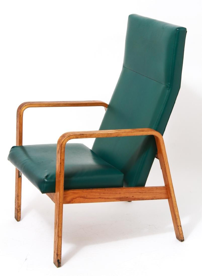 Nemschoff Modern Oak Bentwood Open Armchair - 2