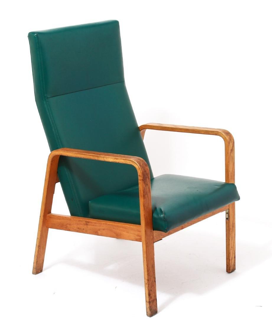 Nemschoff Modern Oak Bentwood Open Armchair - 4