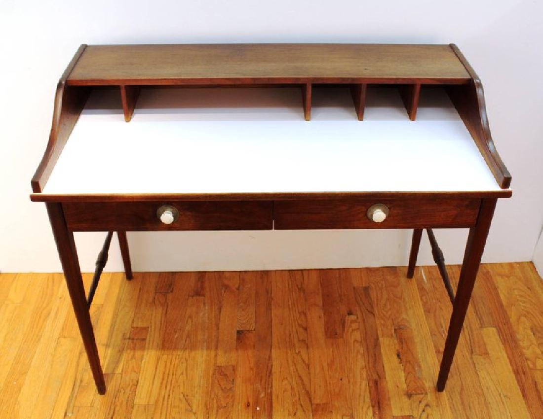 Mid-Century Modern Teak Writing Desk - 2