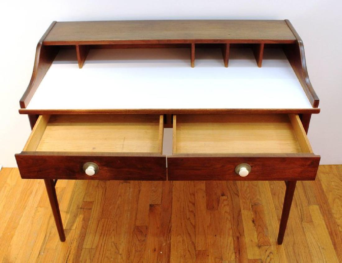Mid-Century Modern Teak Writing Desk - 3
