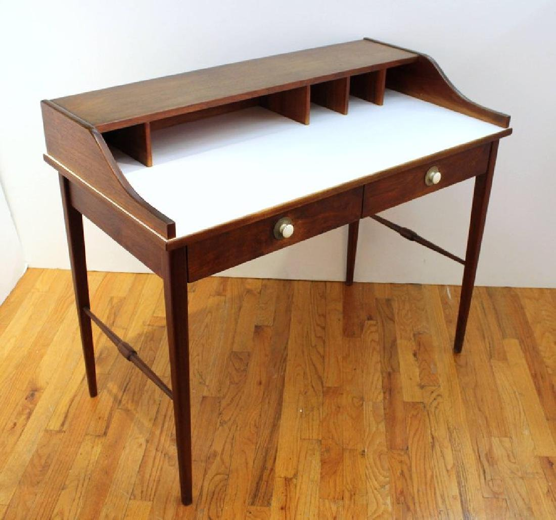 Mid-Century Modern Teak Writing Desk - 5