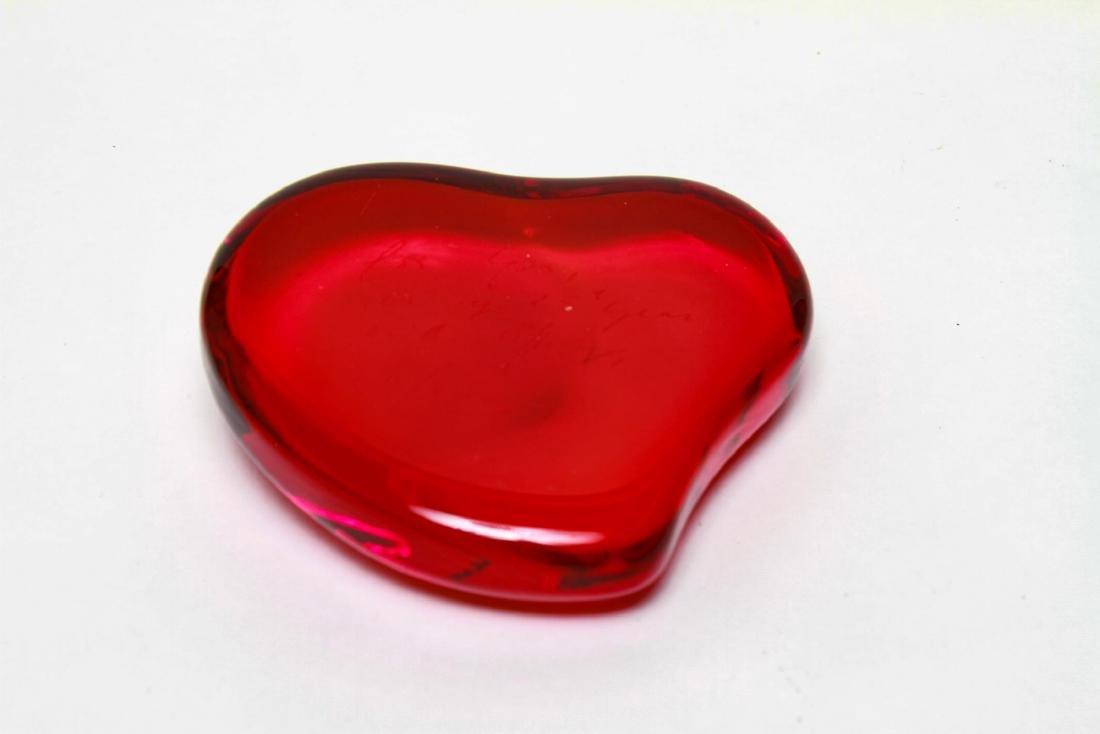 Elsa Peretti Tiffany & Co. Heart Glass Paperweight