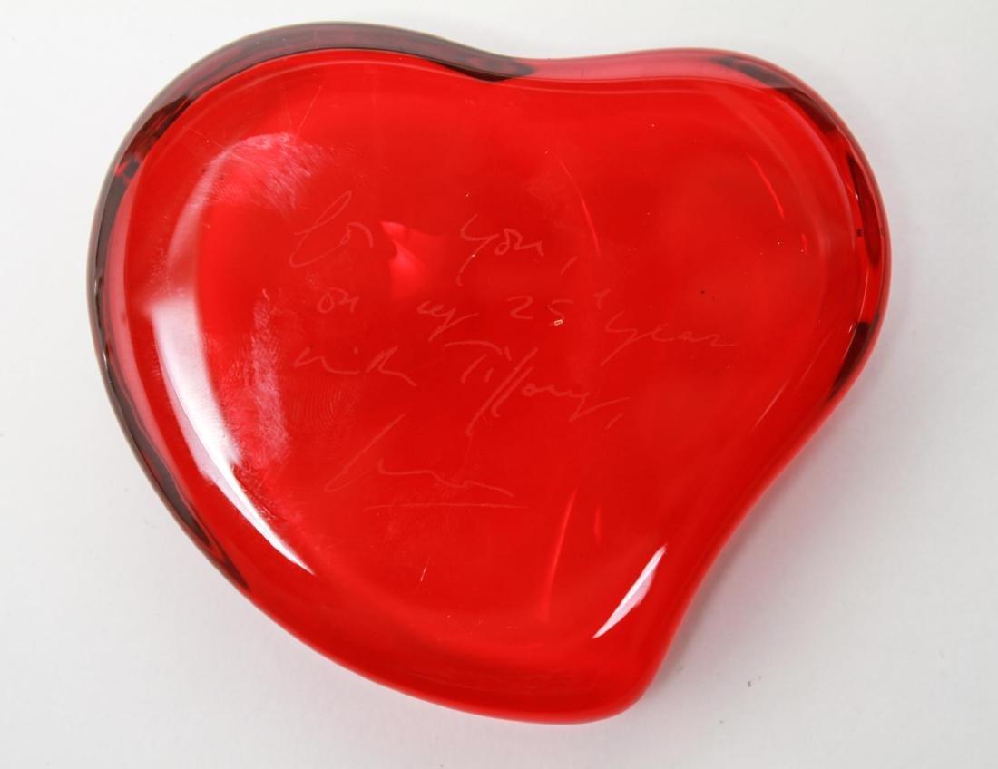 Elsa Peretti Tiffany & Co. Heart Glass Paperweight - 2