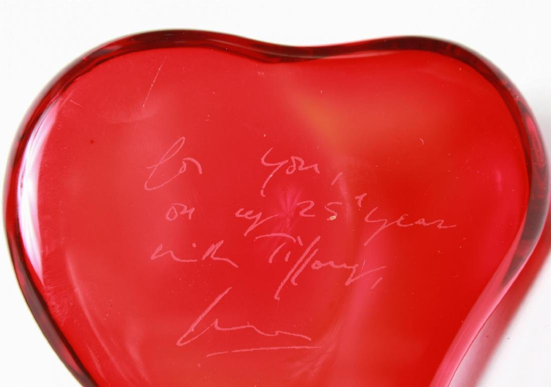 Elsa Peretti Tiffany & Co. Heart Glass Paperweight - 4