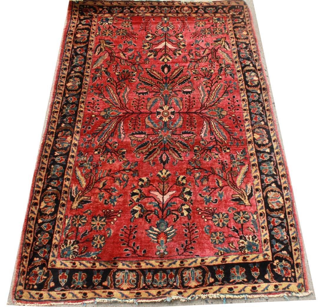 """Sarouk Persian Carpet 3' 6"""" x 5' 2"""""""