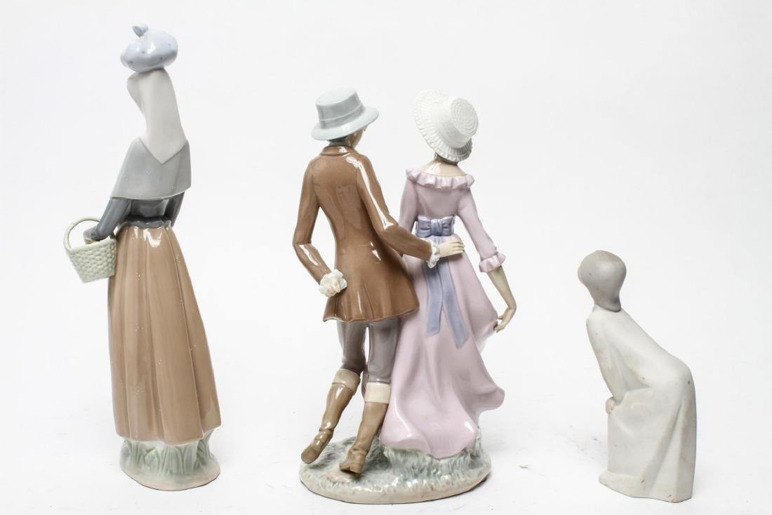 Lladro Porcelain Figurines, Group of 3 - 5