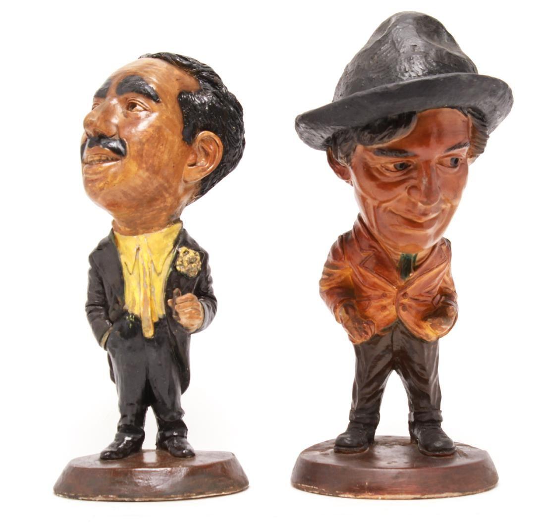 Groucho and Harpo Marx Esco Chalkware Figures