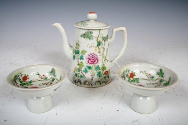 3: Chinese Guang Xu Famille Rose Porcelain Pot