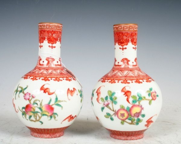 7: A Pair of Chinese Porcelain Vases