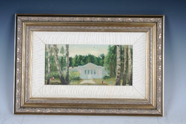 11: Russian Artist V.Smirnov Country House Painting