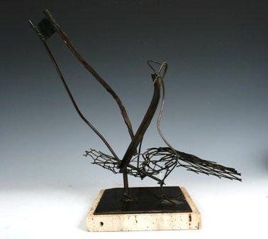 110: Ping-Ming Hsiung Chinese Bronze Bird Sculpture 195