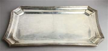 Salvador de la Serna Silver Octagonal Oblong Tray