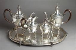 Buccellati Silver Swan Tea Coffee Service w Tray 5