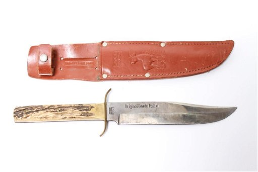 Edge Brand Bowie Knife 445, Stag Handle, Solingen