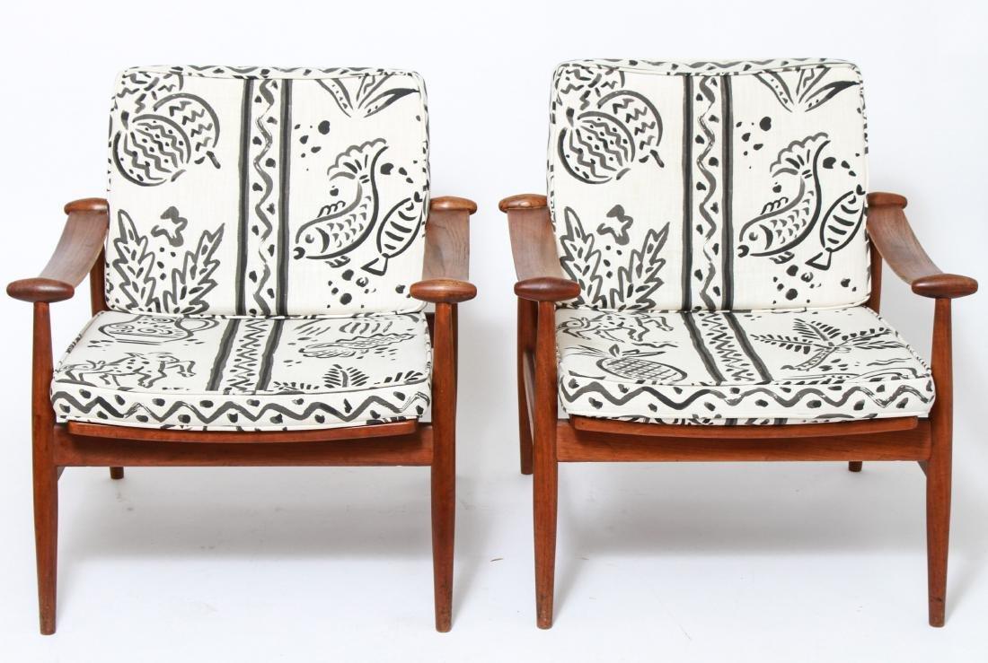 Finn Juhl 'Spade' Mid-Century Lounge Chairs, Pair