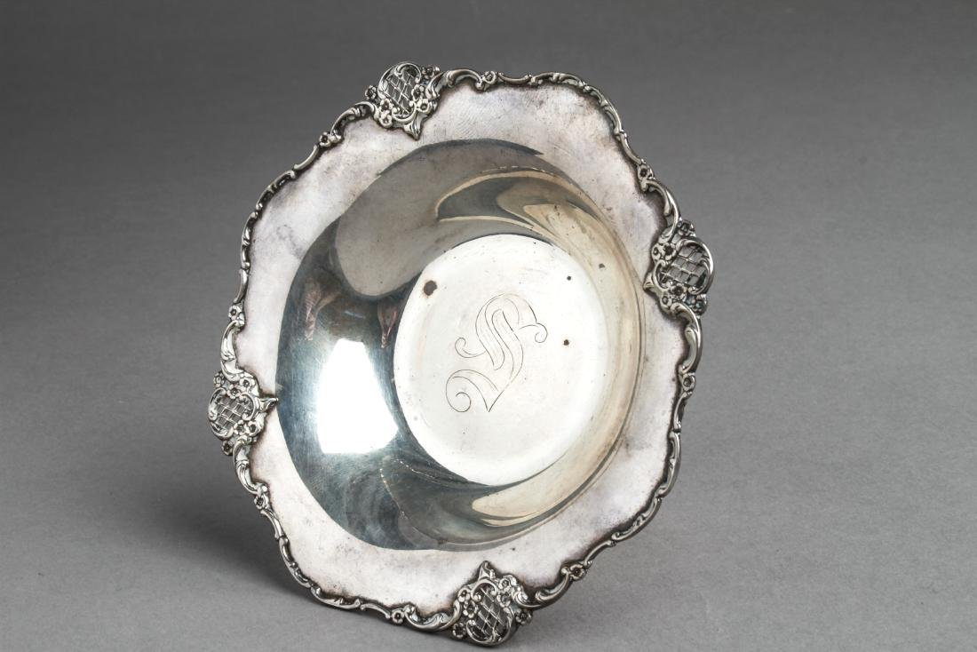 Towle Sterling Silver Footed Compote w Pierced Rim - 3