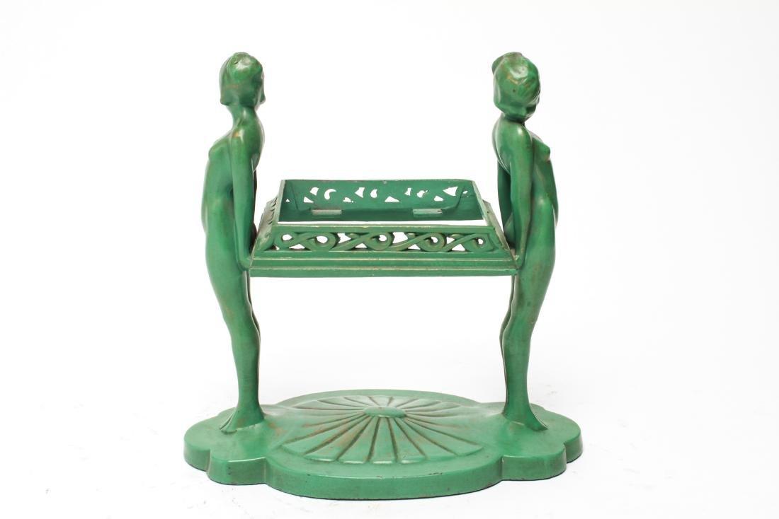 Art Deco Frankart Nude Sculptures Trinket Tray