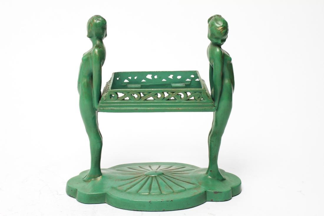Art Deco Frankart Nude Sculptures Trinket Tray - 3