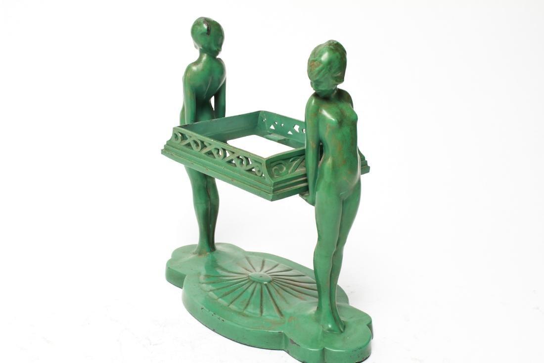 Art Deco Frankart Nude Sculptures Trinket Tray - 4