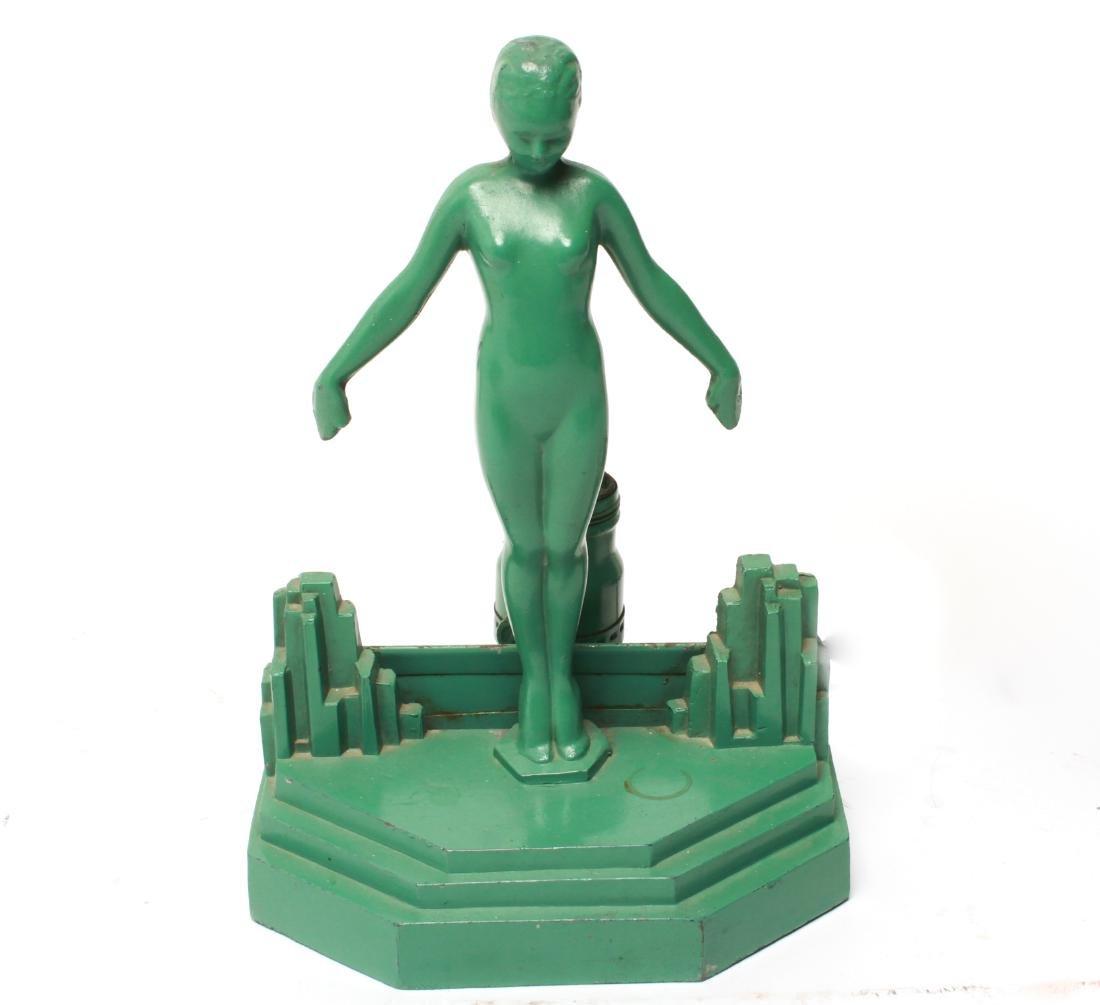Art Deco Frankart Boudoir Lamp Nude Sculpture