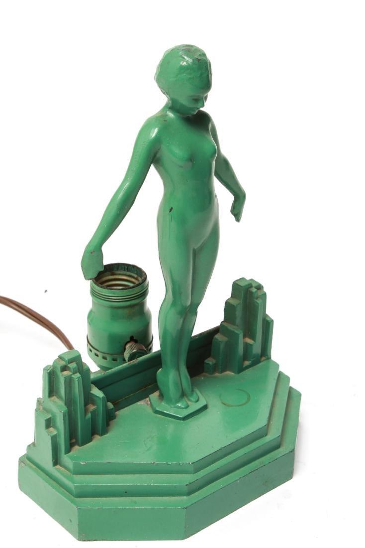 Art Deco Frankart Boudoir Lamp Nude Sculpture - 4