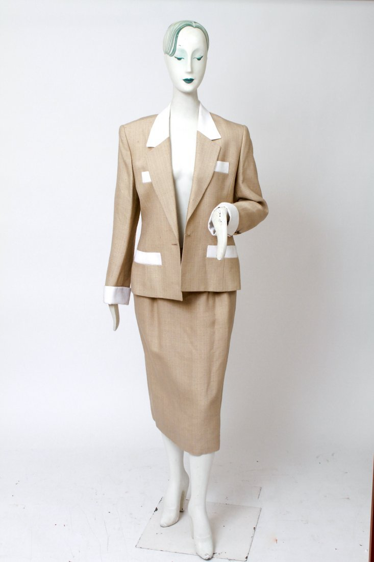Hermes Woman's Suit / Jacket & Skirt Set, Vintage