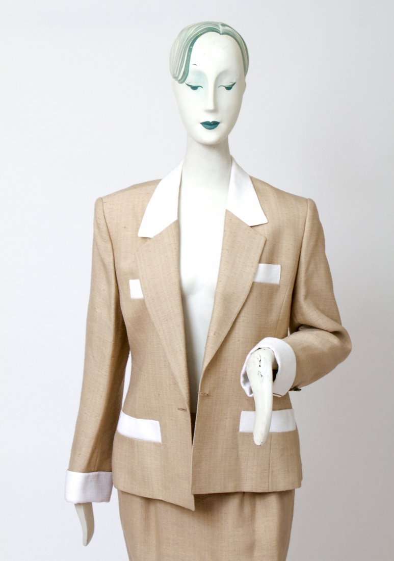 Hermes Woman's Suit / Jacket & Skirt Set, Vintage - 2