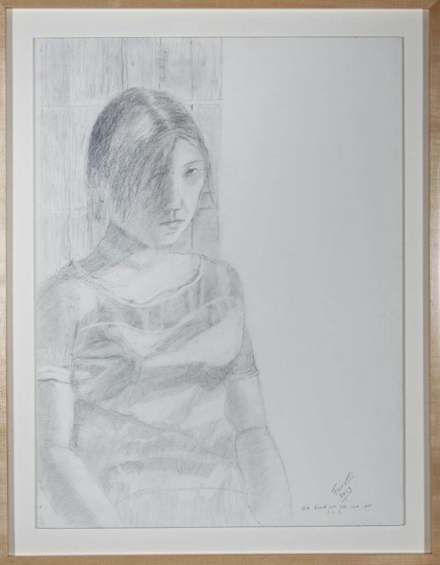 "Fioretti ""Portrait of a Young Girl"" Pencil on Paper"