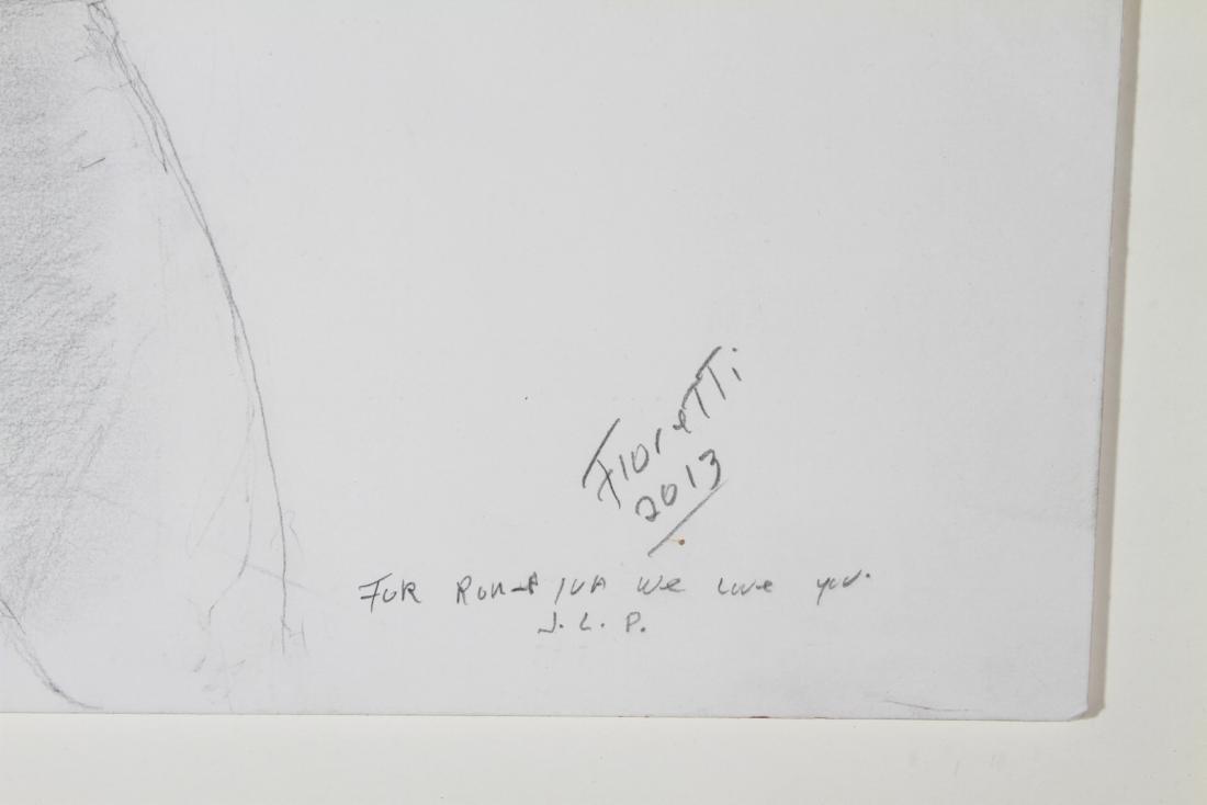 "Fioretti ""Portrait of a Young Girl"" Pencil on Paper - 2"