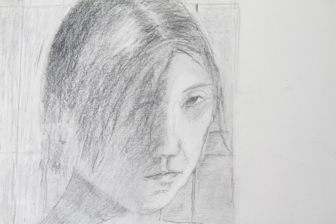 "Fioretti ""Portrait of a Young Girl"" Pencil on Paper - 3"