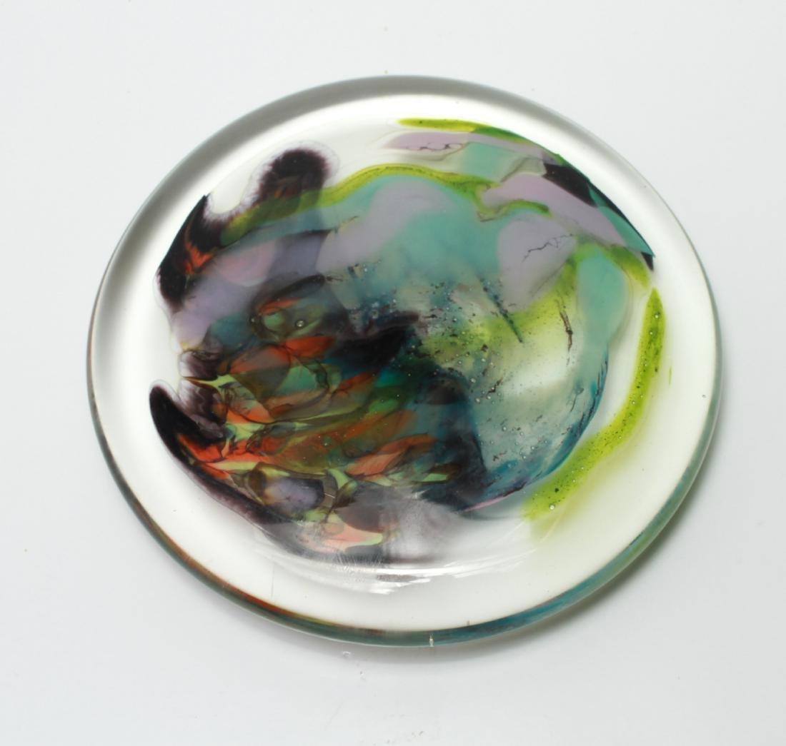 J. Parsons American Studio Art Glass Paperweight