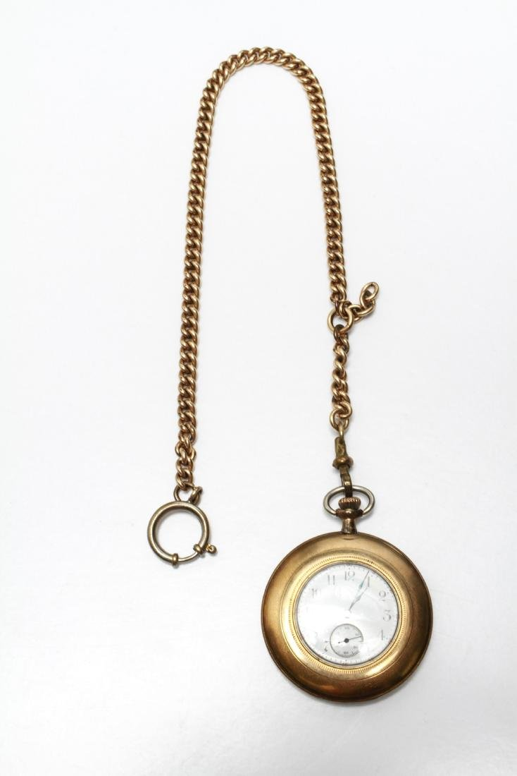 Elgin Gold-Filled Pocket Watch and Fob