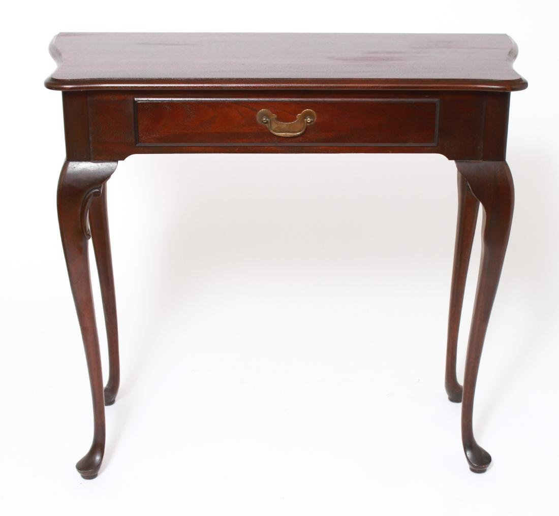 Queen Anne Manner Single Drawer Console Table