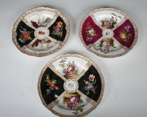 3: Set of 3 Meissen Porcelain Handpainted Plates