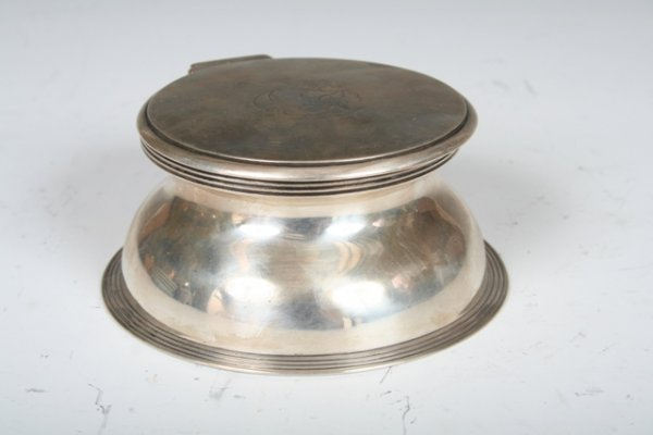 8: Chrichton Brothers Silver & Glass Inkwell, 1918