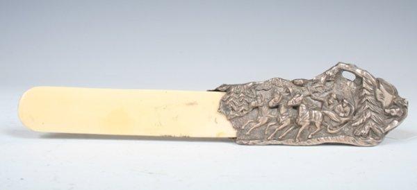 12: Ornate Russian Silver Letter Opener c1850s
