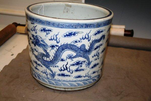 22: 19th C. Chinese Blue & White Jardinier