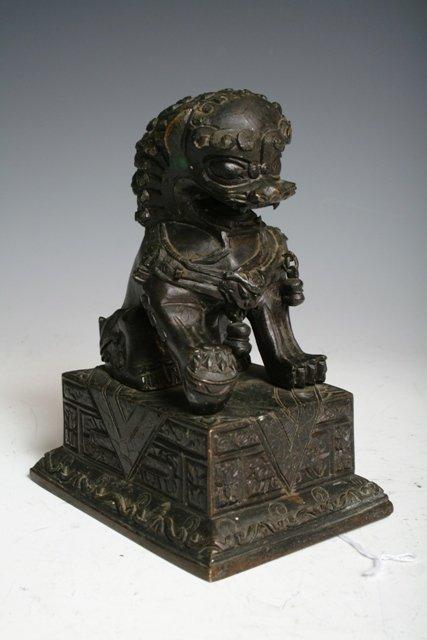 30: 17th C Chinese Bronze Foo Dog